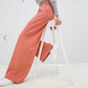 Wide Leg Terracotta Pants
